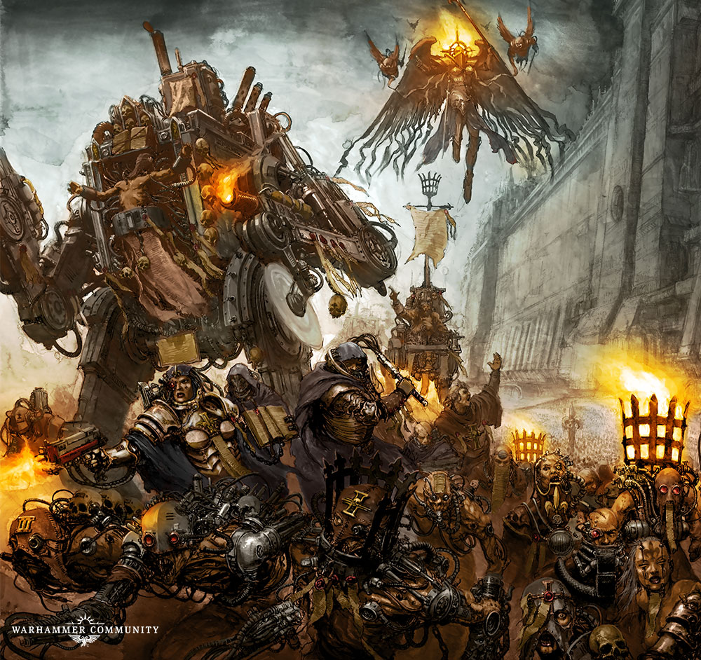 Sisters of Battle Penitent Engine artwork