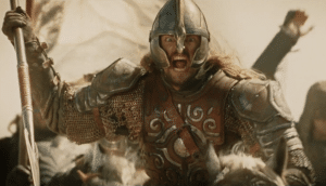Eomer of Rohan charging